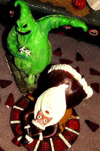 Oogie Boogie and Santa Claus