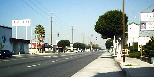 Western Avenue, in Gardena California, Jan. 1st, 2009